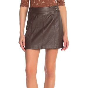 Free People | NWT Faux Leather Mini Skirt 4